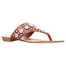 Buy Carvela Bastien Bejewelled Sandals, Tan Online at johnlewis.com