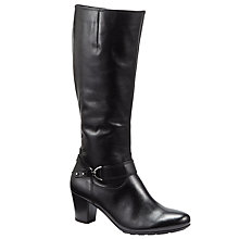 Buy Gabor Rosheen Extra Wide Fit Knee High Boots, Black Online at johnlewis.com