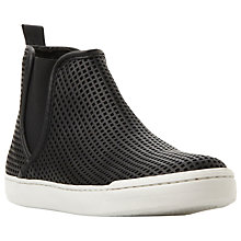 Buy Steve Madden Elvinnm Leather Slip On Trainers, Black Leather Online at johnlewis.com