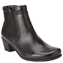 Buy Gabor Sound Leather Ankle Boots, Black Online at johnlewis.com