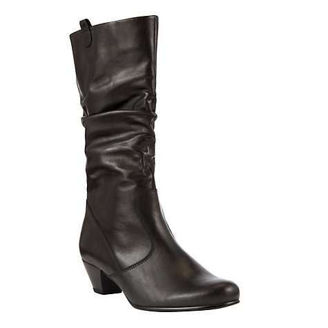 buy gabor wide fit leather calf boots