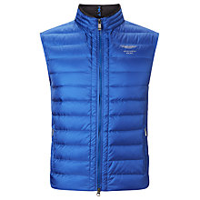 Buy Hackett London Aston Martin Racing Lightweight Gilet, Blue Online at johnlewis.com