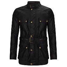 Buy Belstaff The Roadmaster Waxed Cotton Biker Jacket, Black Online at johnlewis.com