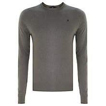 Buy Hackett London Silk Mix Crew Neck Jumper, Grey Online at johnlewis.com