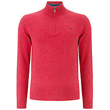 Buy Hackett Lambswool Half Zip Jumper, Rose Online at johnlewis.com