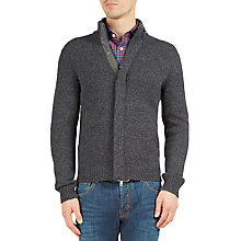 Buy Hackett London Marl Full Zip Cardigan, Grey/Green Online at johnlewis.com