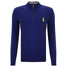 Buy Polo Golf by Ralph Lauren Peached Cotton Half-Zip Jersey Top Online at johnlewis.com