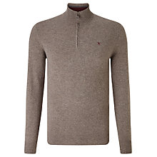 Buy Hackett Lambswool Half Zip Jumper, Olive Online at johnlewis.com