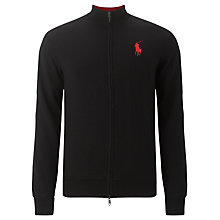 Buy Polo Golf by Ralph Lauren Merino Wool Windblock Jumper, Polo Black Online at johnlewis.com