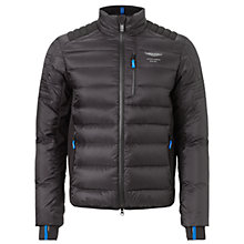 Buy Hackett London Aston Martin Racing Tech Down Jacket, Black Online at johnlewis.com