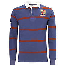 Buy Hackett London Striped Badge Rugby Jersey, Blue/Red Online at johnlewis.com