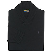 Buy Polo Golf by Ralph Lauren Shawl Neck Jumper, Polo Black Online at johnlewis.com