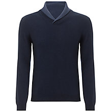 Buy Hackett London Shawl Collar Jumper, Navy Online at johnlewis.com