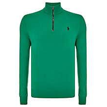 Buy Polo Golf by Ralph Lauren Half Zip Merino Jumper, Killian Green Online at johnlewis.com