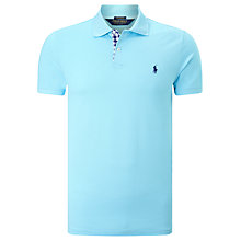 Buy Polo Golf by Ralph Lauren Pro Fit Placket Polo Shirt, French Turquoise Online at johnlewis.com