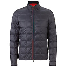 Buy Hackett London Box Quilt Down Jacket, Navy Online at johnlewis.com