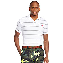 Buy Polo Golf by Ralph Lauren RLX Tailored Fit Stripe Polo Shirt Online at johnlewis.com