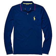 Buy Polo Golf by Ralph Lauren Performance Long Sleeve Polo Shirt Online at johnlewis.com