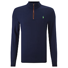 Buy Polo Golf by Ralph Lauren Long Sleeve Half Zip Merino Wool Jumper Online at johnlewis.com