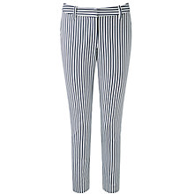 Buy Pure Collection Print Capri Trousers, Navy Online at johnlewis.com