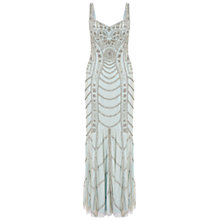 Buy Aidan Mattox Sleeveless Sweetheart Beaded Dress, Ice Blue Online at johnlewis.com