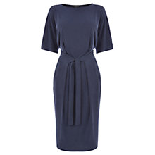 Buy Warehouse Belted T-shirt Dress, Marina Blue Online at johnlewis.com