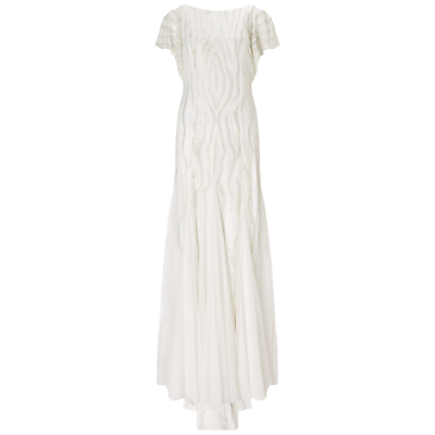 Adrianna Papell Wedding Fully Beaded Gown Ivory £530.00 AT vintagedancer.com