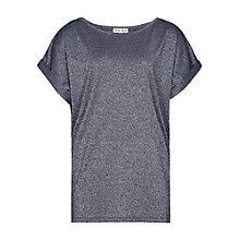 Buy Reiss Arianne Metallic Stitch T-Shirt Online at johnlewis.com