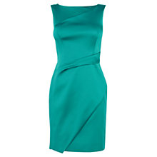 Buy Karen Millen Signature Stretch Satin Shift Dress, Aqua Online at johnlewis.com