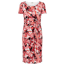 Buy Precis Petite Short Sleeve Floral Dress, Orange Online at johnlewis.com