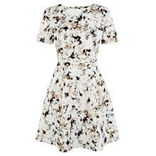 Buy Warehouse Floral Print Scuba Dress, Kestral Online at johnlewis.com