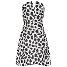 Buy Reiss Jacquard Dress, Black/White Online at johnlewis.com