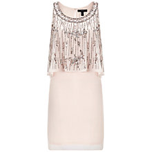 Buy Aidan Mattox Beaded Popover Cocktail Dress, Champagne Online at johnlewis.com