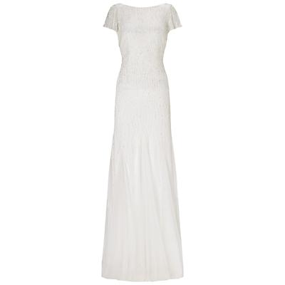 Adrianna Papell Wedding Beaded Godet Gown Ivory £400.00 AT vintagedancer.com