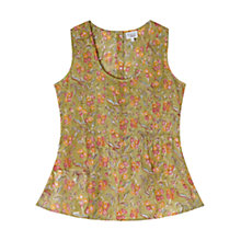 Buy East Sharma Print Cotton Vest, Meadow Online at johnlewis.com