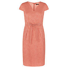 Buy Precis Petite Jacquard Bow Dress, Orange Online at johnlewis.com