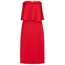 Buy Reiss Raffy Ruffle Dress, Rum Online at johnlewis.com