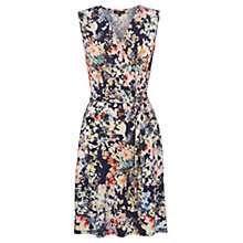 Buy Warehouse Watercolour Floral Wrap Dress, Multi Online at johnlewis.com