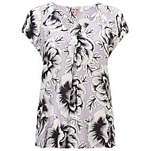 Buy Phase Eight Marianne Floral Blouse, Pale Lilac Online at johnlewis.com
