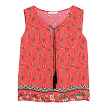 Buy Mango Floral Print Top, Red Ochre Online at johnlewis.com
