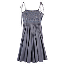 Buy East Mirror Work Cotton Dress, Slate Online at johnlewis.com
