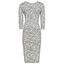 Buy Reiss Printed Jersey Dress, White/Black Online at johnlewis.com
