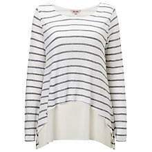 Buy Phase Eight Ciera Layered Top, White/Grey Online at johnlewis.com