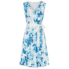 Buy Kaliko Printed Cotton Prom Dress, Sky Blue Online at johnlewis.com