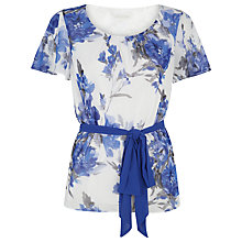 Buy Jacques Vert Printed Soft Blouse, Endless Blue/Ivory Online at johnlewis.com