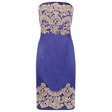 Buy Kaliko Embroidered Bust Dress, Blue Online at johnlewis.com