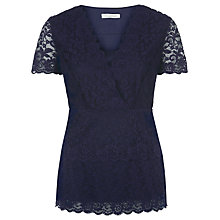 Buy Kaliko Galoon Lace Top, Navy Online at johnlewis.com