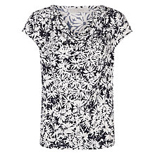 Buy Kaliko Daisy Print Cowl Top, Navy Online at johnlewis.com