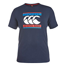 Buy Canterbury of New Zealand Retro Logo T-Shirt, Navy Online at johnlewis.com