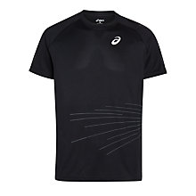 Buy Asics LiteShow Running Top, Black Online at johnlewis.com
